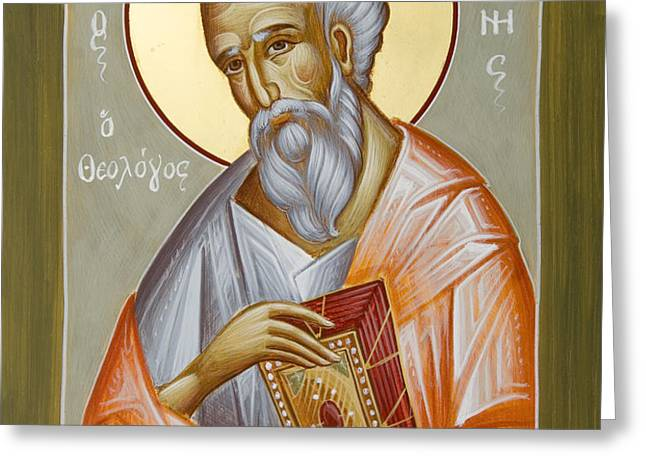 St John the Theologian Greeting Card by Julia Bridget Hayes