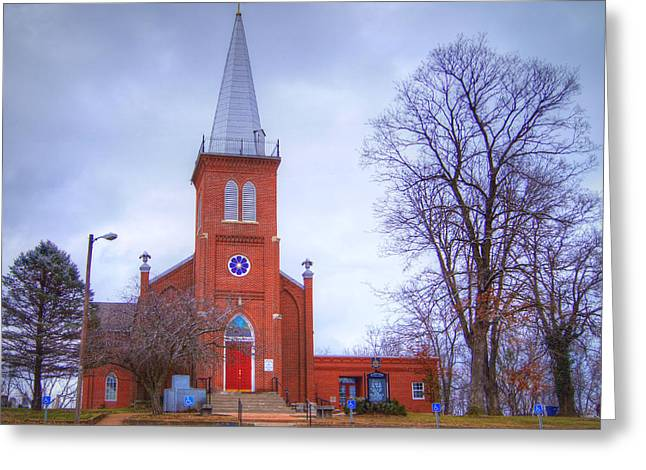 Schubert Greeting Cards - St. Johns Lutheran Church Greeting Card by Cricket Hackmann