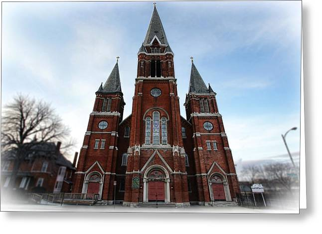 Forgiveness Digital Art Greeting Cards - St. Josaphat Roman Catholic Church Detroit Michigan Greeting Card by Gordon Dean II