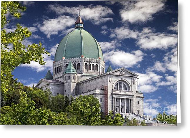 Oratory Greeting Cards - St Josephs Oratory Greeting Card by Raoul Madden