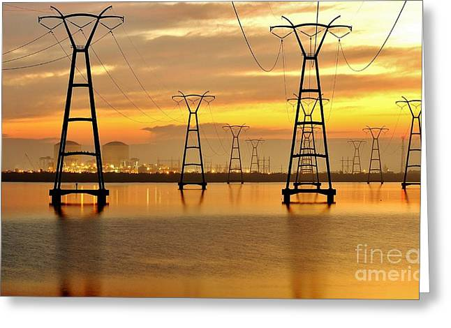 St. Lucie County Greeting Cards - St. Lucie Nuclear Power Plant Greeting Card by Don Youngclaus