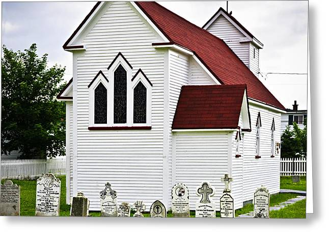 St. Luke's Church and cemetery in Placentia Greeting Card by Elena Elisseeva
