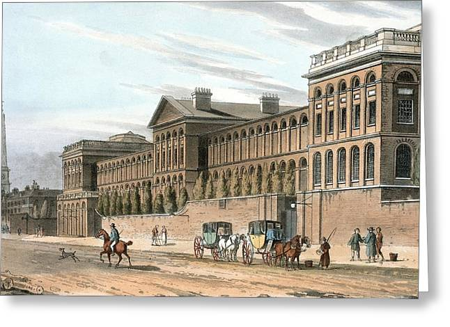 Mental Institution Greeting Cards - St Lukes Hospital For Lunatics, London Greeting Card by Miriam And Ira D. Wallach Division Of Art, Prints And Photographsnew York Public Library