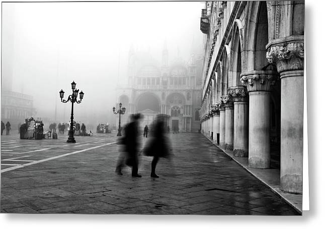 Mark Photographs Greeting Cards - St Marks Square Greeting Card by Marion Galt