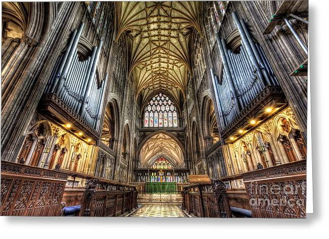 Vaulted Ceilings Greeting Cards - St Mary Greeting Card by Adrian Evans