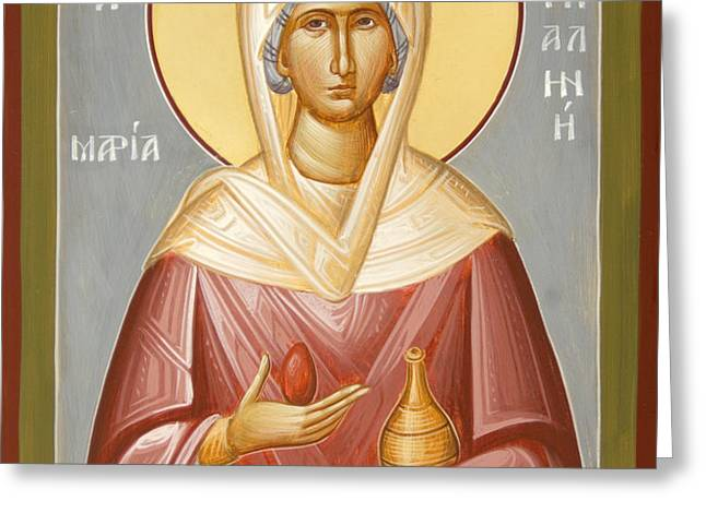 St Mary Magdalene Greeting Card by Julia Bridget Hayes