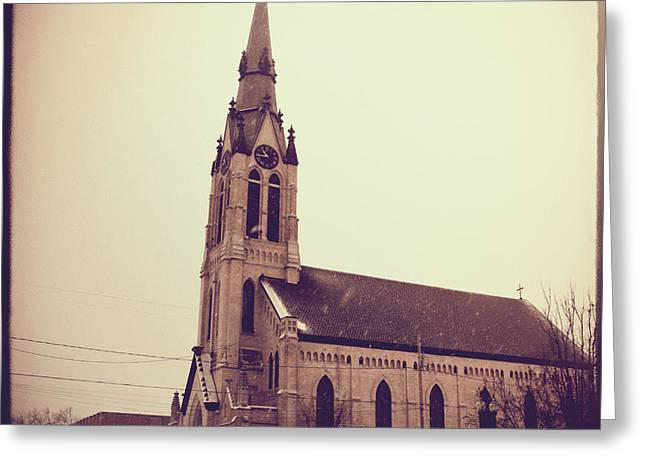 Menasha Greeting Cards - St. Mary Parish Greeting Card by Joel Witmeyer