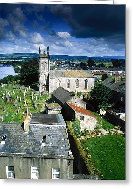 Headstones Greeting Cards - St Marys Cathedral, Co Limerick, Ireland Greeting Card by The Irish Image Collection