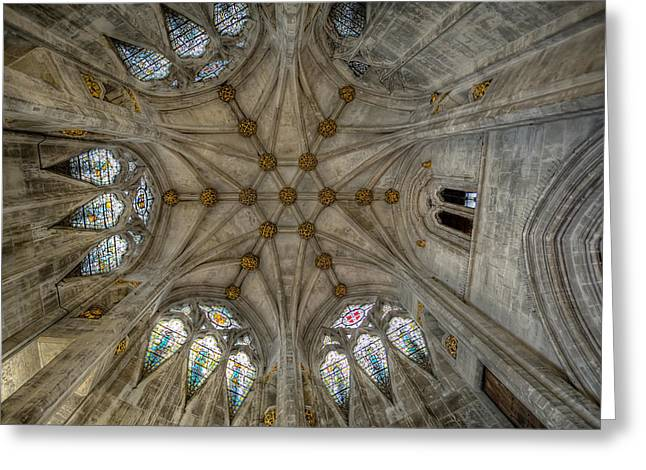 Historic England Greeting Cards - St Marys Ceiling Greeting Card by Adrian Evans