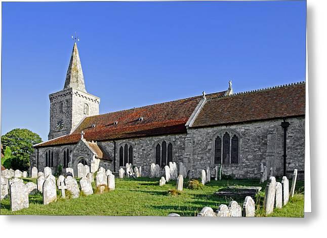 Church Greeting Cards - St Marys Church - Brading Greeting Card by Rod Johnson