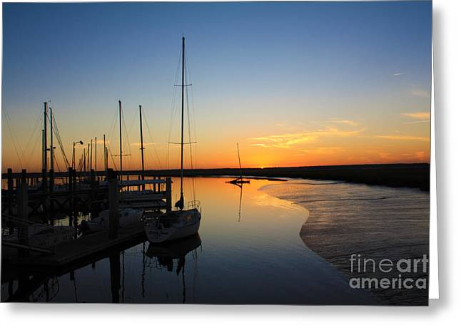Recently Sold -  - Boats At Dock Greeting Cards - St. Marys Sunset Greeting Card by M J Glisson