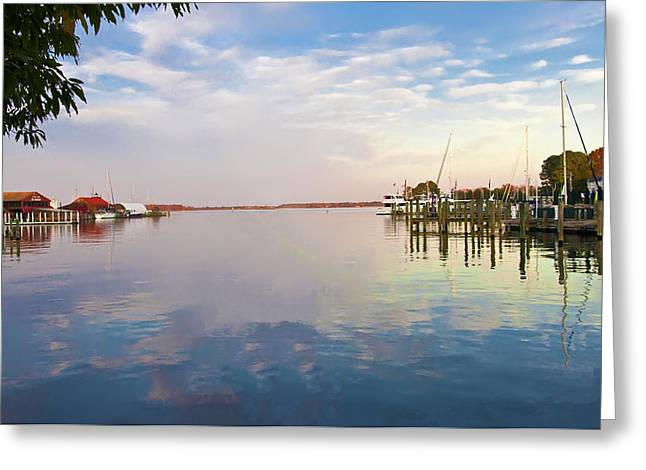 St Michaels Harbor Greeting Card by Bill Cannon