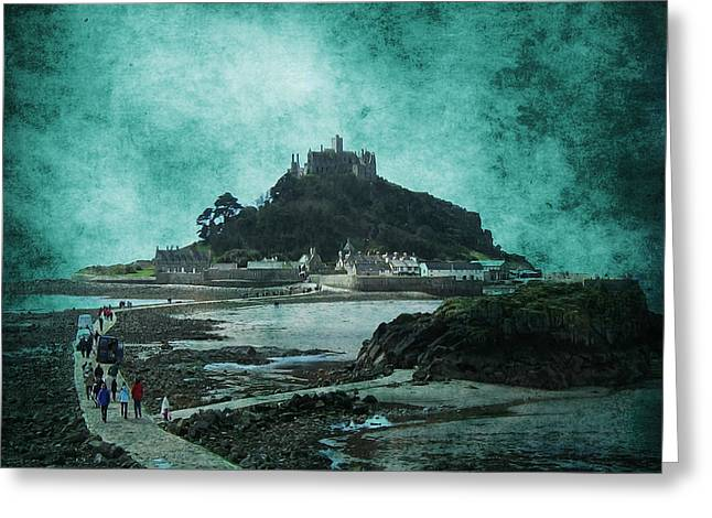 Seaside Digital Art Greeting Cards - St Michaels Mount Greeting Card by Svetlana Sewell