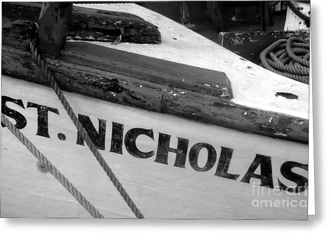 Best Sellers -  - Nicholas Greeting Cards - St. Nicholas Greeting Card by David Lee Thompson