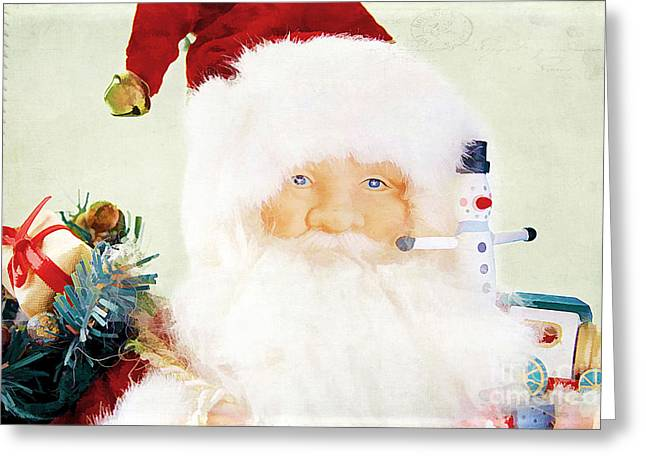 Men; Male; Males; People; Old Greeting Cards - St Nick Greeting Card by Darren Fisher