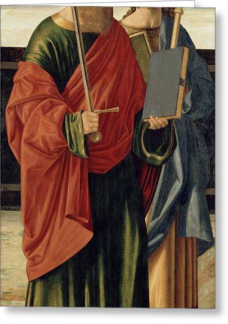 Cristoforo Greeting Cards - St. Paul and St. James the Elder Greeting Card by Cristoforo Caselli