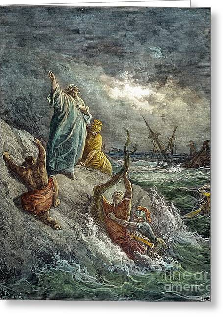 Dore Greeting Cards - St. Paul: Shipwreck Greeting Card by Granger