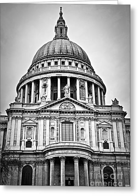 Old England Greeting Cards - St. Pauls Cathedral in London Greeting Card by Elena Elisseeva