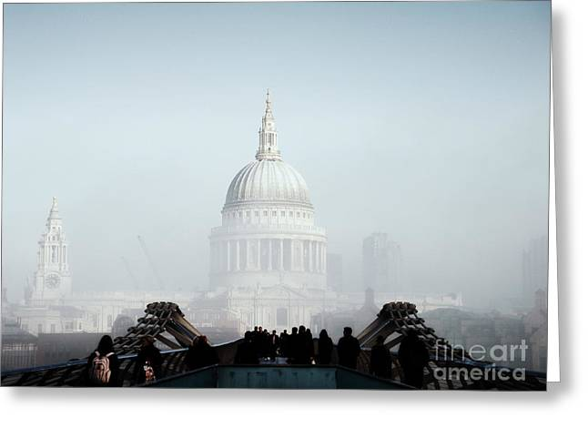 Famous Bridge Greeting Cards - St Pauls Cathedral Greeting Card by Pixel  Chimp