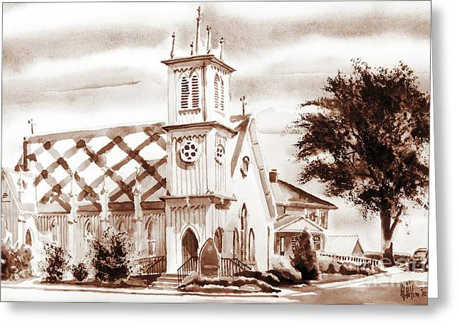 Episcopalian Greeting Cards - St. Pauls Episcopal Church III Greeting Card by Kip DeVore