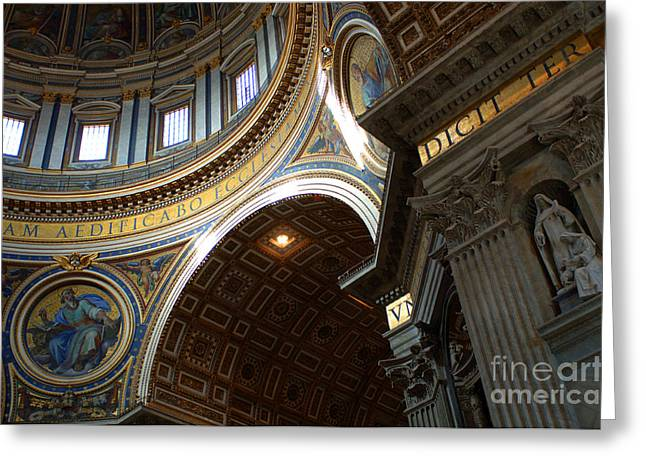 Basillica Greeting Cards - St Peters Cathederal 4 Greeting Card by Bob Christopher