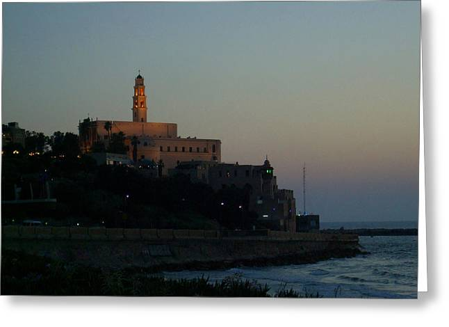 Yafo Greeting Cards - St. Peters Church Old Jaffa - Israel Greeting Card by Joshua Benk
