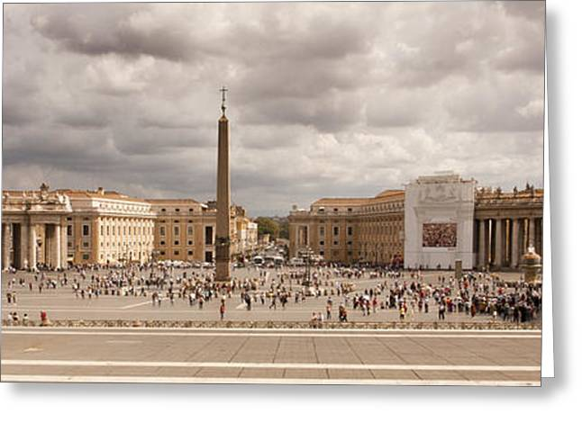 Basillica Greeting Cards - St. Peters Square Greeting Card by Larry Fry