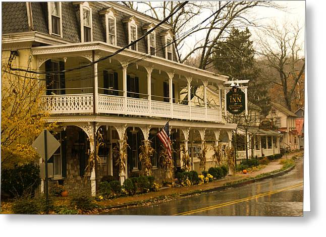 St. Peter's Village Greeting Card by Trish Tritz