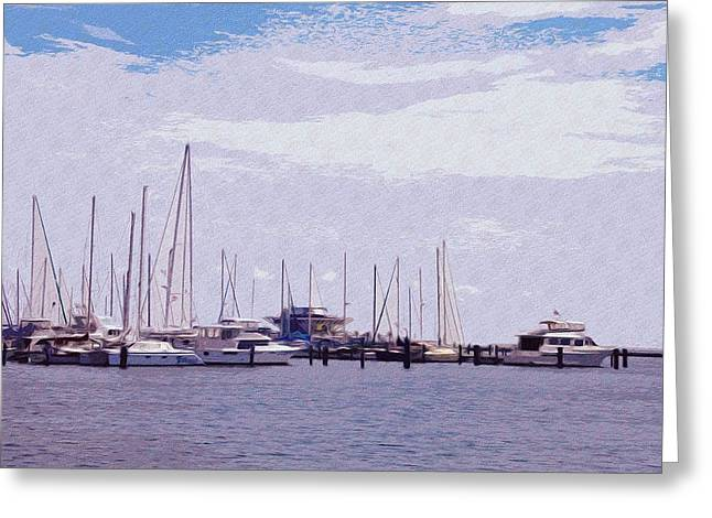 St Petersburg Florida Greeting Cards - St. Petersburg Marina Greeting Card by Bill Cannon