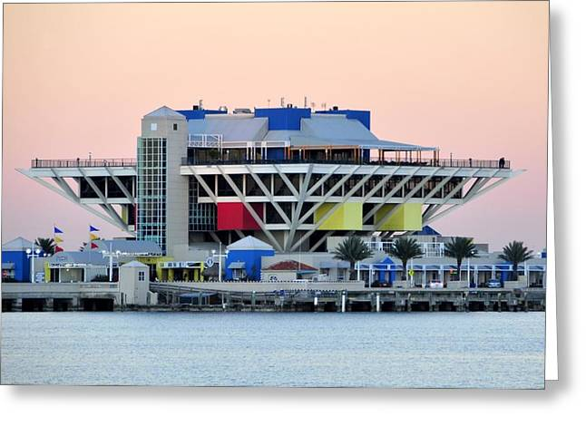 Pyramids Greeting Cards Greeting Cards - St. Petersburg pier Greeting Card by David Lee Thompson