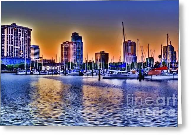 St Petersburg Florida Greeting Cards - St. Petersburg sunset Greeting Card by Don McBride