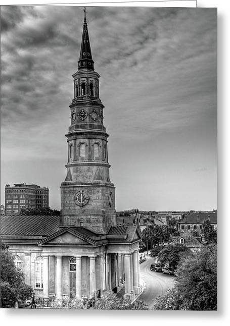 Church Street Greeting Cards - St. Phillips Episcopal Church Greeting Card by Drew Castelhano