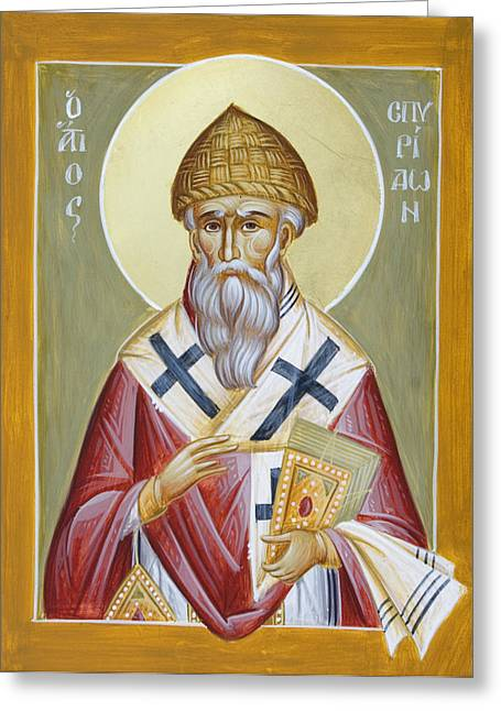 St Spyridon Greeting Cards - St Spyridon Greeting Card by Julia Bridget Hayes
