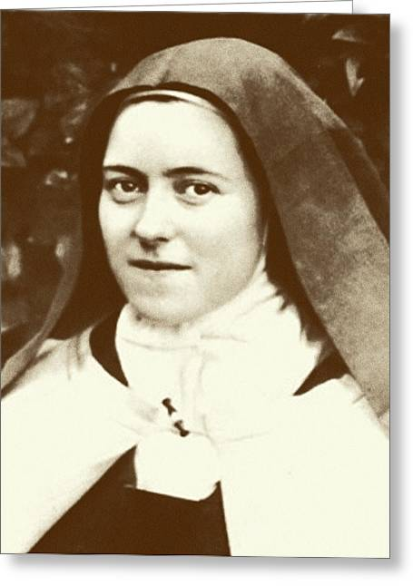 Flower Photograph Greeting Cards - St. Therese of Lisieux - The Little Flower Greeting Card by Christi Studio