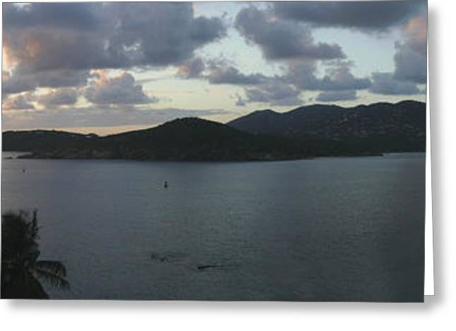 Charlotte Greeting Cards - St. Thomas at Dusk Greeting Card by Gary Lobdell