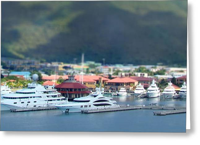Tilt Shift Greeting Cards - St. Thomas US Virgin Islands Greeting Card by Shelley Neff