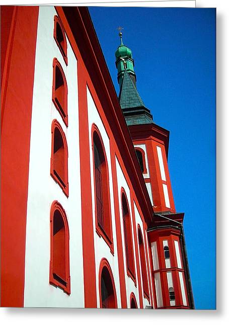 1234 Greeting Cards - St. Wenzel - Loket Greeting Card by Juergen Weiss