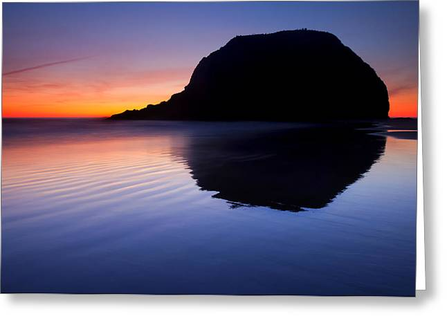 Cannon Beach Greeting Cards - Stack Reflections Greeting Card by Mike  Dawson