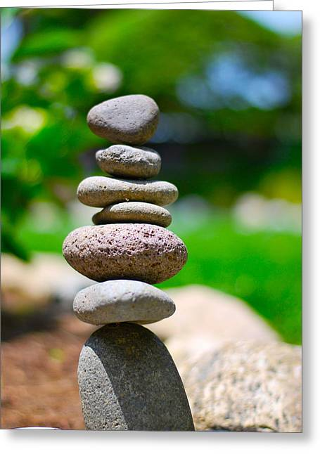 Stacked Rocks Greeting Cards - Stacked  Greeting Card by Art K