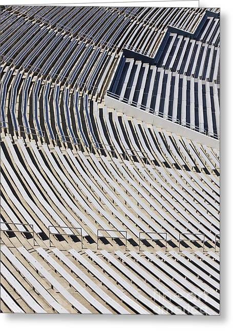 Sports Arenas Greeting Cards - Stadium Bleacher Greeting Card by Jeremy Woodhouse