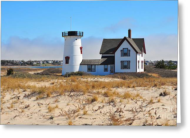Chatham Greeting Cards - Stage Harbor Light Greeting Card by Catherine Reusch  Daley