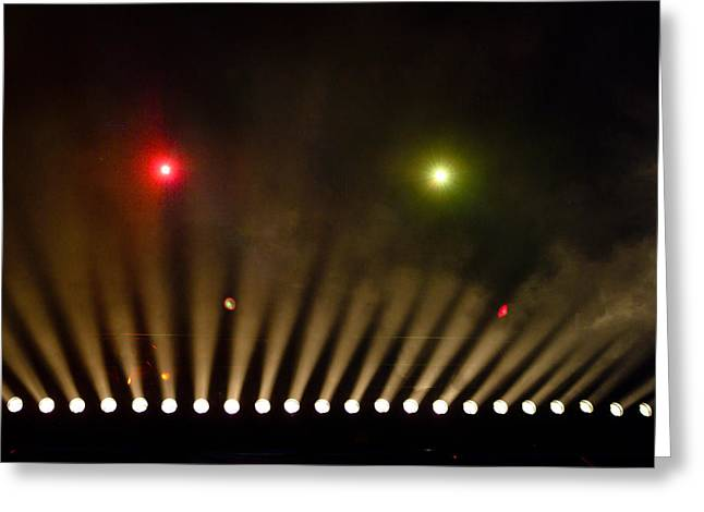 Stage Lights Greeting Cards - Stage Lights At A Theater Greeting Card by Richard Nowitz