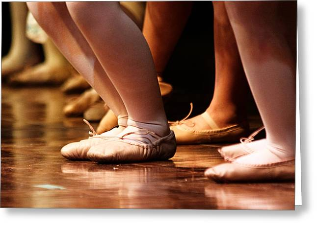 Dance Recital Greeting Cards - Stage Slippers Greeting Card by Lauri Novak