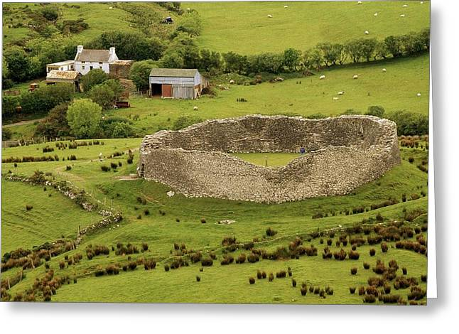 Cummins Greeting Cards - Staigue Fort, Kerry Greeting Card by Richard Cummins