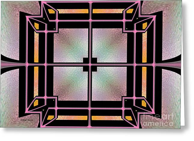 Wall Art For Your Home Greeting Cards - Stained Glass 3 Greeting Card by Cheryl Young