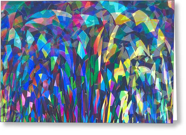 John Neville Cohen Greeting Cards - Stained Glass Card Greeting Card by John Neville Cohen