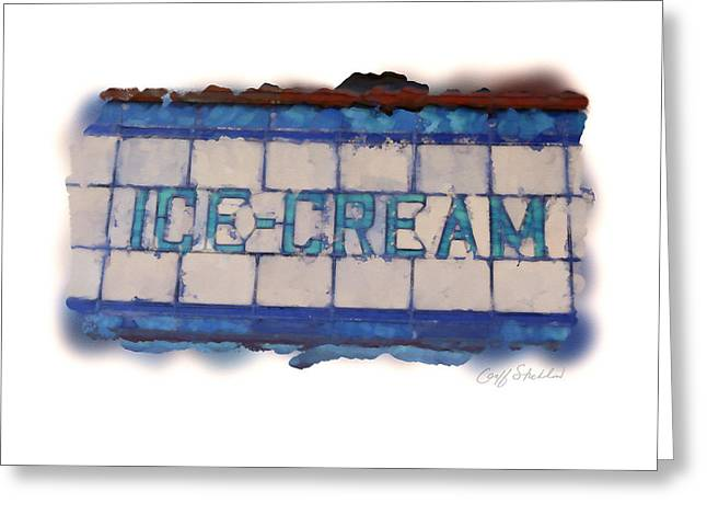 Lead Greeting Cards - Stained Glass Ice Cream Greeting Card by Geoff Strehlow