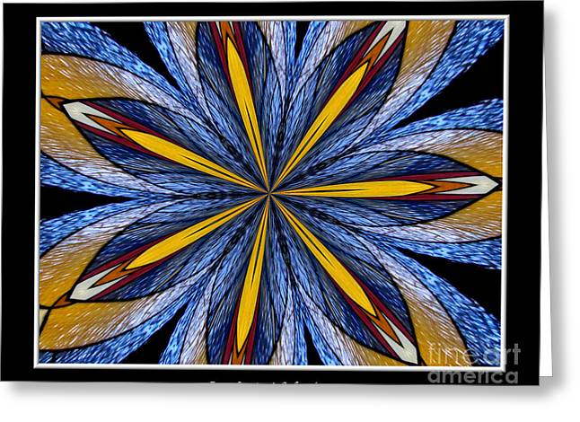 Occasion Greeting Cards - Stained Glass Kaleidoscope 26 Greeting Card by Rose Santuci-Sofranko