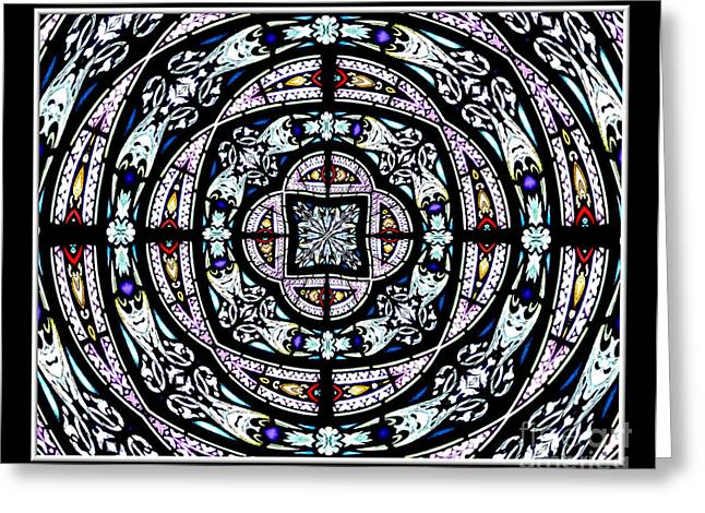 Jesus work Digital Greeting Cards - Stained Glass Kaleidoscope 29 Greeting Card by Rose Santuci-Sofranko