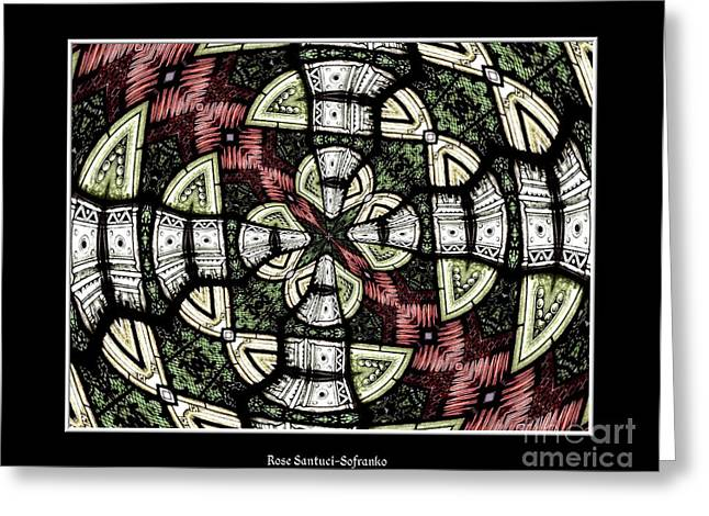 Jesus work Digital Greeting Cards - Stained Glass Kaleidoscope 31 Greeting Card by Rose Santuci-Sofranko